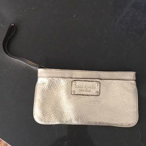 Kate Spade Gold Leather Wristlet